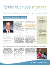 Family Business Matters Spring 2011 Cover