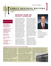 Family Business Matters Winter 2010 Cover