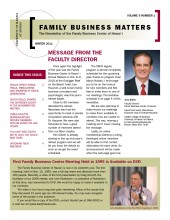 Family Business Matters Winter 2011 Cover
