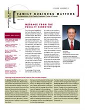 Family Business Matter Fall 2009