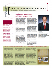 Family Business Matters Summer 2009