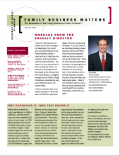 Family Business Matters Winter 2009