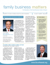 Family Business Matters Fall 2012 Cover